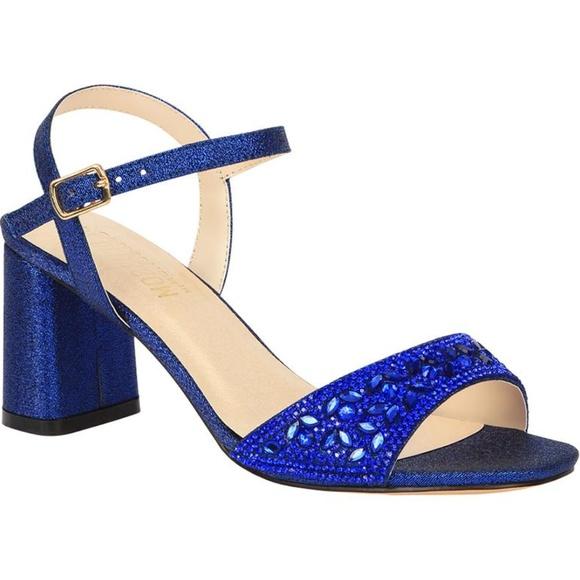 07bd279d1d1 De Blossom Women s Royal Blue Block Heeled Sandal